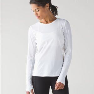 Lululemon run white long sleeve top